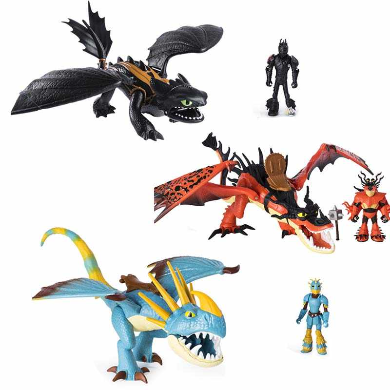 How To Train Your Dragon 3 Dragon Doll Decoration Hiccup Toy Stormfly Snotout Night Fury Hookfang Grimmel toothless kids gifts