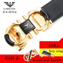 Famous Brand Belt Men Top Quality Genuine Luxury Leather Belts for Men, 8 Strap Male Metal Automatic Buckle .