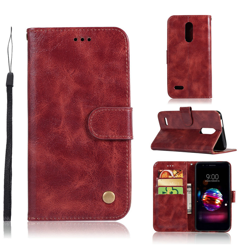 5.0'' Wallet Case for LG Aristo 2 Case Aristo2 Leather