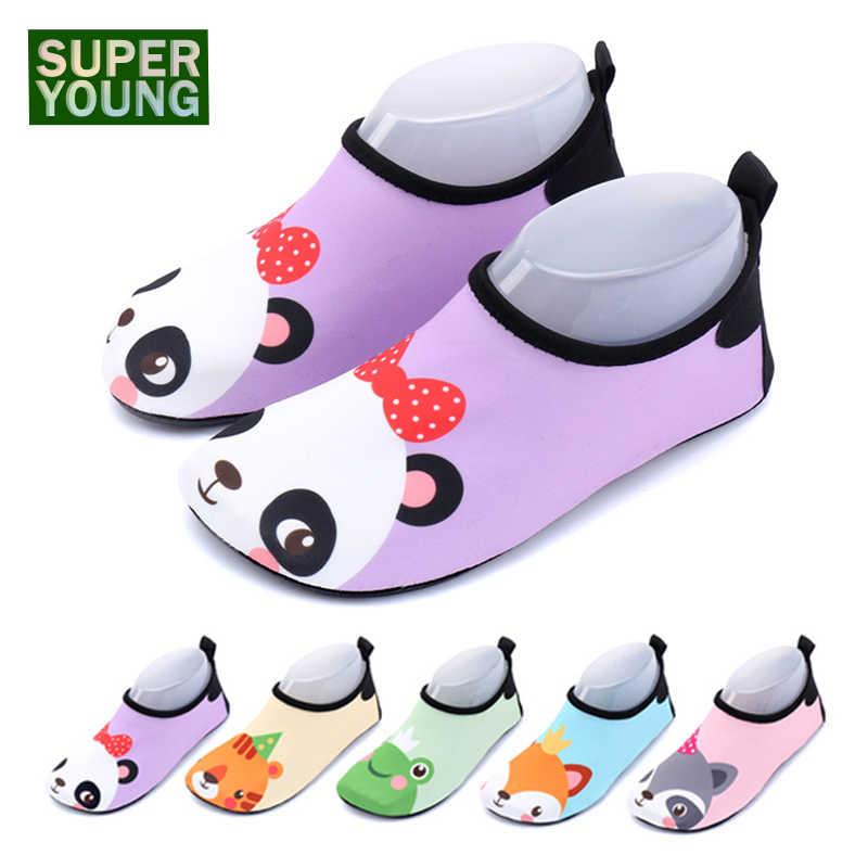 Niños animales de dibujos animados niños niñas Aqua zapatos descalzos niños deportes acuáticos de playa zapatillas al aire libre natación pesca sandalias de buceo