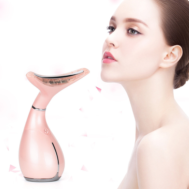 Portable Chin Massage Neck Slimmer Neck Instrument Reduce Double Chin Wrinkle Removal  Body Massager Face Lift Tool Beauty Tool