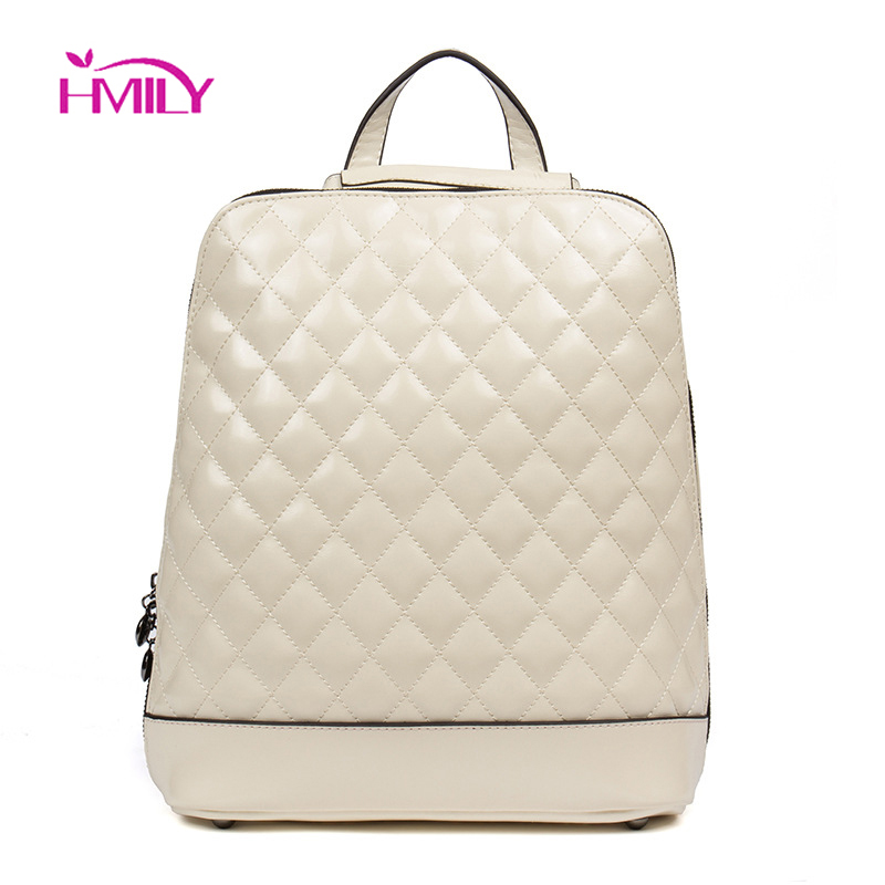 HMILY Brand Laptop Backpack Fashion Womens New Shoulder Bag Leather Back Pack College Female School Bags For Teenage Girls