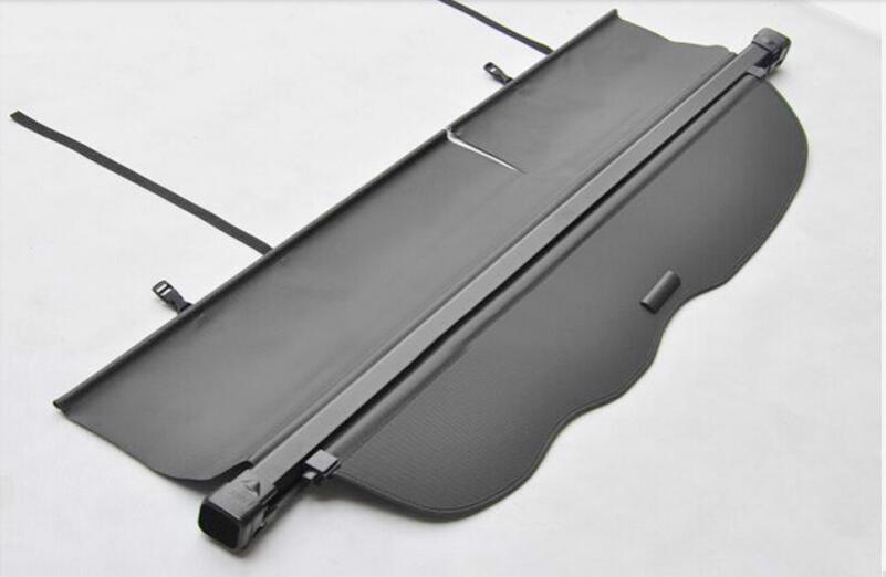 for Toyota Prado fj150 2010 2011 2012 2013  Aluminum Black rear trunk shade shield tail curtain cargo cover car rear trunk security shield shade cargo cover for nissan qashqai 2008 2009 2010 2011 2012 2013 black beige