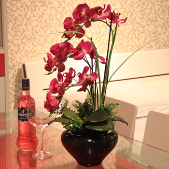 Artificial Flowers High artificial flower phalaenopsis set whole finished products .christmas decorations for home