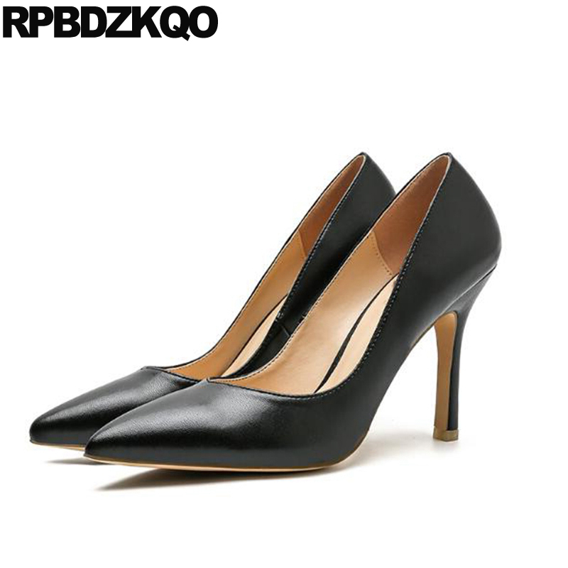 Office Classic 3 Inch Stiletto 2017 Ladies Formal Shoes Pointed Toe Women Black High Heels Size 33 Pumps 4 34 Court Work Fashion patent leather 2017 pumps size 33 pointed toe office work formal plus red low 4 34 dress shoes heels yellow high women court