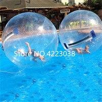 Бесплатная доставка 1,0 мм ТПУ 2 м Dia (4 штуки шарики воды + 1 насос) надувные воды гуляя водный шар Zorb для продажи