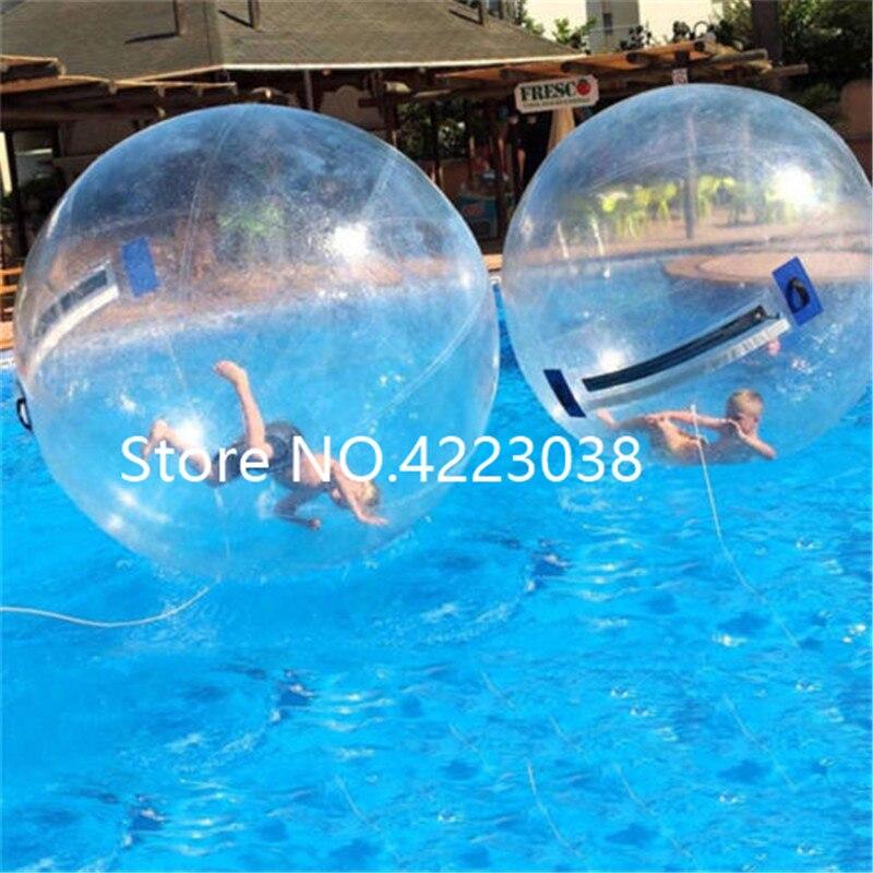 Livraison gratuite 1.0mm TPU 2 m Dia (4 pièces boules d'eau + 1 pompe) gonflable eau marche balle ballon d'eau Zorb balle à vendre