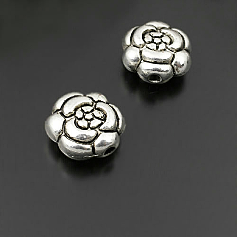 Lot de 10 perles entretoise metal 11mm