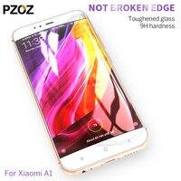 Pzoz xiaomi mi a1 glass tempered full cover prime screen protector xiomi mia1 glass film original xaomi mi a1 4GB 64GB 5.5 inch
