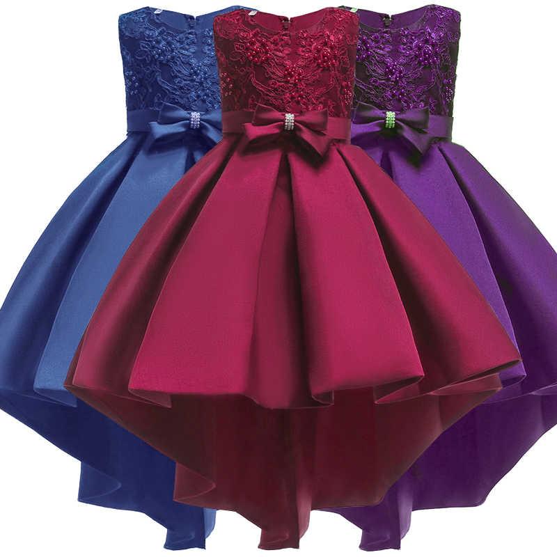 6f42f99fe9d Платье для маленьких девочек элегантный 2018 летняя одежда Детские платья  для девочек вечерние партии свадебное вечернее