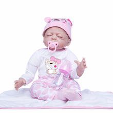 Princess Anna 22 inch Lovely doll reborn babies silicone reborn baby dolls realistic lifelike toys birthday gift new silicone reborn dolls realistic natural babies toys for girls lifelike reborn babies birthday gift blue princess doll