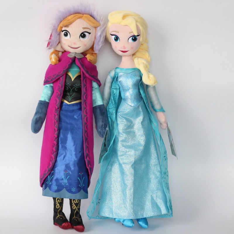 Игрушки дисней 40 см 50 см мягкие плюшевые куклы игрушки принцесса Холодное сердце Эльза и Анна Кукла для девочек Подарки на день рождения Juguetes