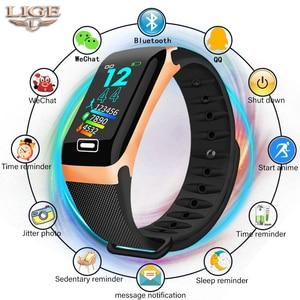 Image 1 - LIGE سوار ذكي رصد الصحة معدل ضربات القلب/ضغط الدم/مقاوم للماء عداد الخطى للرجال والنساء ساعات سوار رياضي
