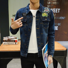Hot 2016 Fashion Mens Denim Jackets Slim Fit Mens Jeans Jacket Cotton Outwear Coat Long Sleeve Hole Male Clothing Size S-5XL