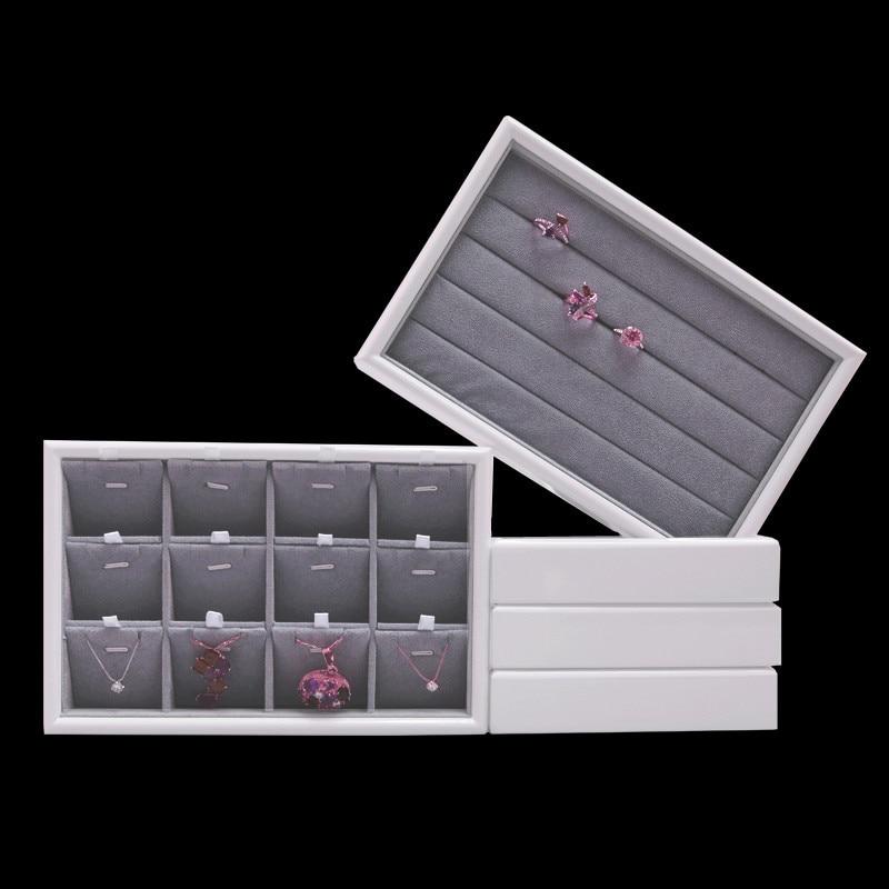 Jewellry Display Tray Ring, Pendant Display Tray Jewellery Flat Tray Solid Wood Velour Jewellery Display tray