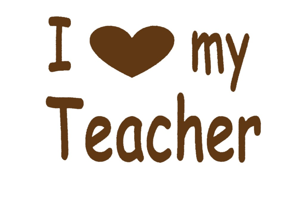 HotMeiNi Cozy I Love My Teacher Heart Sticker For Car Window Truck Bumper Auto Kayak Vinyl Decal Teachers Day Thanksgiving Day