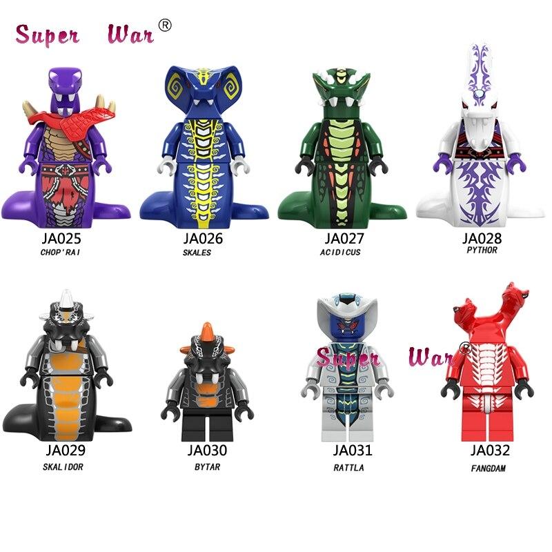 Single Model Building Blocks  Series Snake Acidicus Skales Rattla Bytar Pythor With  S Toys For Children