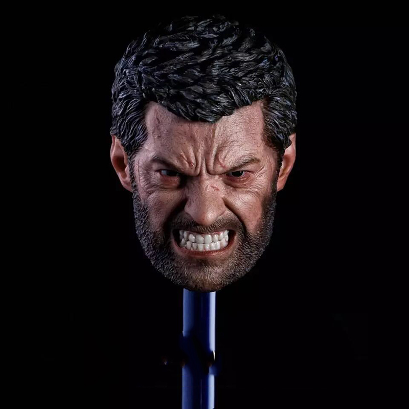 1 6 Scale Logan Wolverine Head Sculpt Angry Version for 12 inches Action Figure
