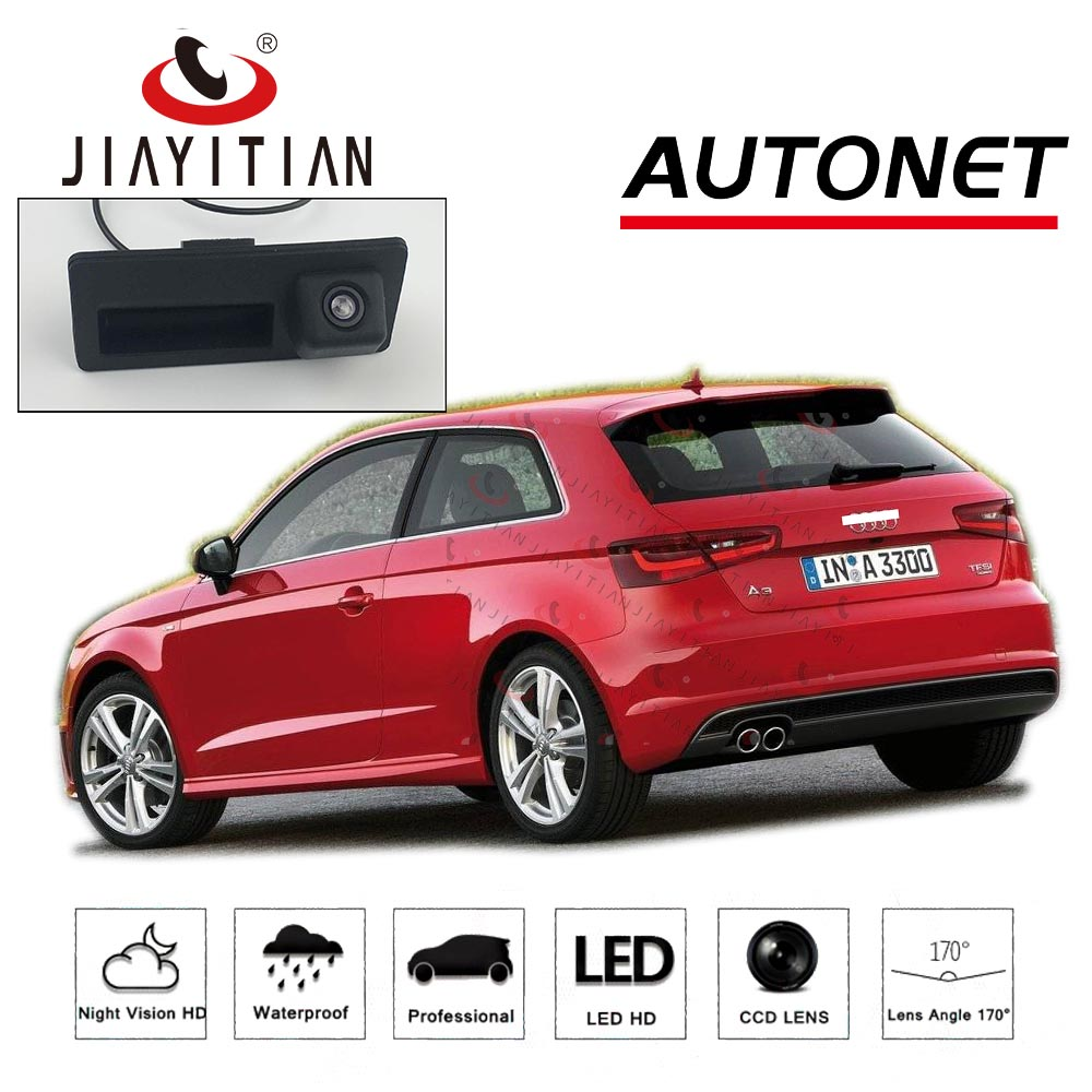 JIAYITIAN Trunk Handle Camera For Audi A3 Sportback S3 RS3 MQB 8V MK3 2012~2019 Backup Camera HD CCD Reverse Parking Camera