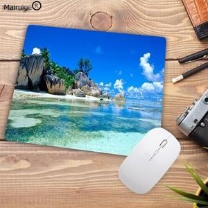 Image 5 - لوحة ماوس كبيرة من Mairuige مطبوعة جديدة على شاطئ النخيل لوحة ماوس لعبة كمبيوتر مكتبي حجم 180X220X2MM لوحة ماوس صغيرة