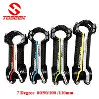 Ultralight karbon fiber karayolu bisiklet kök mtb yol dağ bike31.8 * 80/90/100/110mm 3 k parlak bitiş Bisiklet parçaları