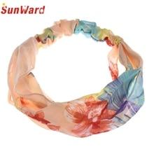 SunWard Good Deal New  high quality Floral Printing  Band Hair Cap Headband OR  1pc