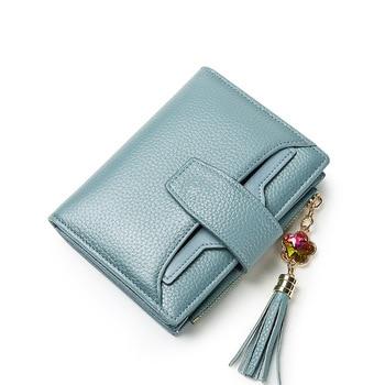 Fashion Tassel Hasp Card Wallet