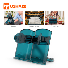 USHARE Portable Book Stand Holder Multifunctional Adjustable Book Accessories Support Bookends Book For Reading Stand For Books book holder for reading creative metal book clip bookstand london telephone booth iron bookends cartoon stationery a pair of pcs
