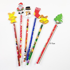 Image 2 - 60 Pcs/lot Merry Christmas Shape wooden Pencils Gift For Children Santa Claus Cartoon Wood Office Stationery School