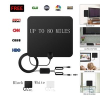 TV Antenna Indoor Digital HDTV Antenna High Gain Amplifier Mini DVB T2 Aerial Flexible Soft ATSC