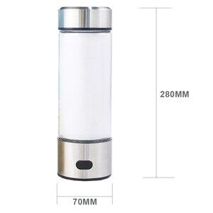 Image 5 - 500ML taşınabilir hidrojen zengin jeneratör su filtresi Ionizer H2 PEM zengin hidrojen alkali şişe elektroliz içecek hidrojen