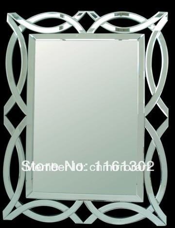 MR 201077 Ribbon Desgin Beveled Edge Bathroom Wall MirrorChina