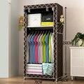 Gabinetes de almacenamiento Bebé armario vestuario sencillo Paño Plegable individual pequeño armario de Acero