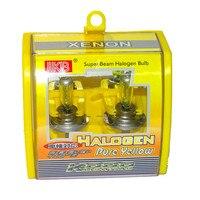 10Pcs H7 12V 55W 3000K Super Xenon Yellow Car Light Bulbs Automobile Fog Lights Headlight Bulb Auto Halogen Lamp Head Light