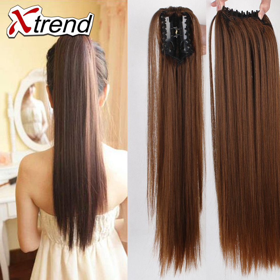 Fashion 130g 1pc Ponytail Hair Extension 20inch Long Straight Synthetic  Natural Ponytails Claw Pony Tail Hairpieces For Womens 918e20f8c0