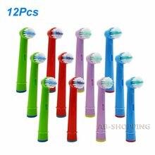 Cabezales de cepillo de dientes eléctrico para niños, para Oral B, EB-10A, limpieza sensible, Triumph, Vitality, doble limpieza, TriZone, 12 Uds.