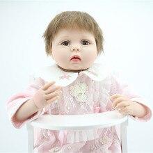 22 Inch 55cm Silicone Reborn Baby Dolls Handmade Alive Newborn Baby Dolls For Girls Play House Fashion Birthday Gifts Brinquedos