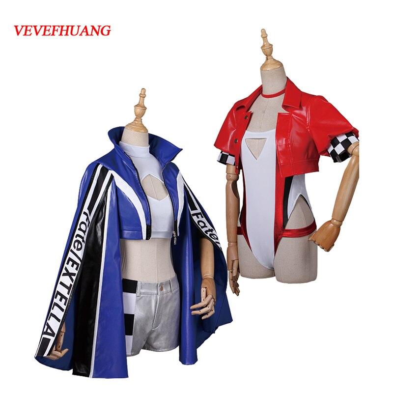 VEVEFHUANG FGO Nero/Tamamo no Mae Cosplay Fate/Grand Order Tamamo no Mae nero racing suit cosplay costume