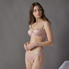 Lace Seamless Push Up 1/2 Half Cup Brassiere