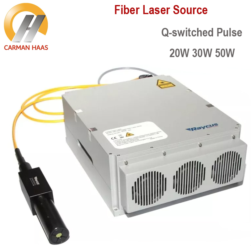 Raycus 20W 30W 50W Q-switched Pulse Fiber Laser Source 1064nm High Quality Laser Marking Machine Parts