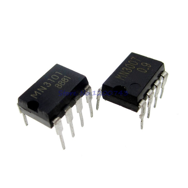 10pcs/lot 5pair MN3007 + MN3101 DIP8 Microcomputers/Controllers CHIP In Stock