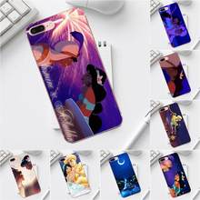 Qdowpz Disny Aladdin Jasmine For iPhone X XS Max XR 4 4S 5 5C SE 6 6S 7 8 Plus Galaxy A3 A5 J1 J3 J5 J7 2017 Soft Popular Hot(China)