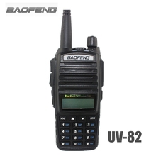 BAOFENG UV-82 VHF UHF 128 CHS Handheld Transceiver Interphone with LCD FM Radio Receiver CB Radio Dual PTT Launch Key Flashlight