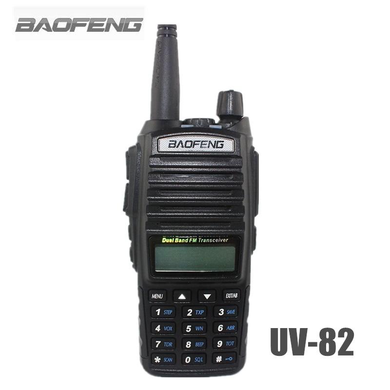 imágenes para Baofeng UV-82 Walkie Talkie Portátil Negro 5 W/8 W Doble Banda VHF/UHF 128 FM Ham Radio transceptor Para La Caza