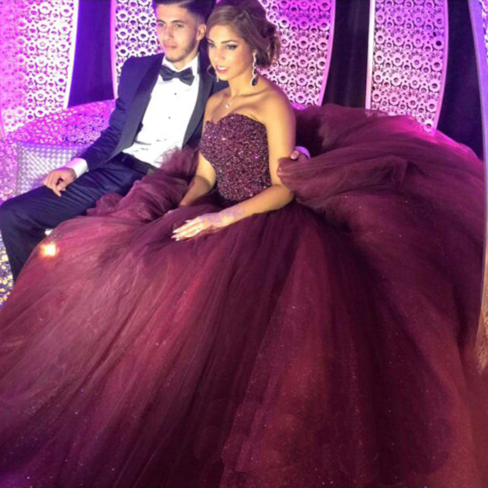 Velvet Beautiful Long Purple Ball Gown Prom Dresses 2015 with ...