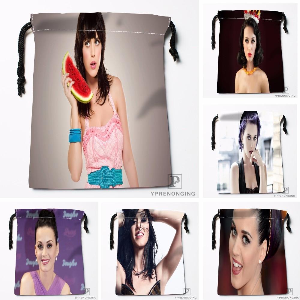 Custom Katy Perry Drawstring Bags Printing Travel Storage Mini Pouch Swim Hiking Toy Bag Size 18x22cm