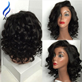 130/150/180 Density Human Hair Full Lace Bob Wig Short Full Lace Front Wigs Brazilian Curly Bob U Part Human Hair Wigs Love Hair