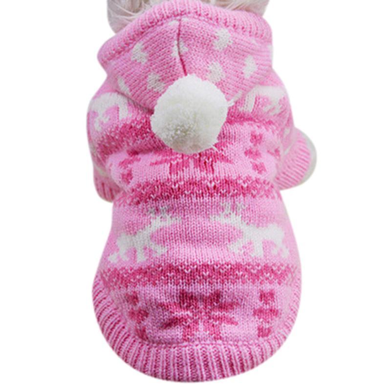 Transer Dog Coats Knit Hoodie Sweater Pet Plaid Winter Dog Coat Clothes Winter Warm Costume Apparel D127