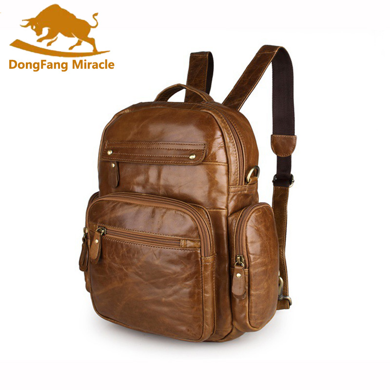 Top Grade First Layer Cow Genuine Leather Backpack Men Laptop Bag Vintage Oil Wax Leather Backpack Women Unisex Travel ToteTop Grade First Layer Cow Genuine Leather Backpack Men Laptop Bag Vintage Oil Wax Leather Backpack Women Unisex Travel Tote