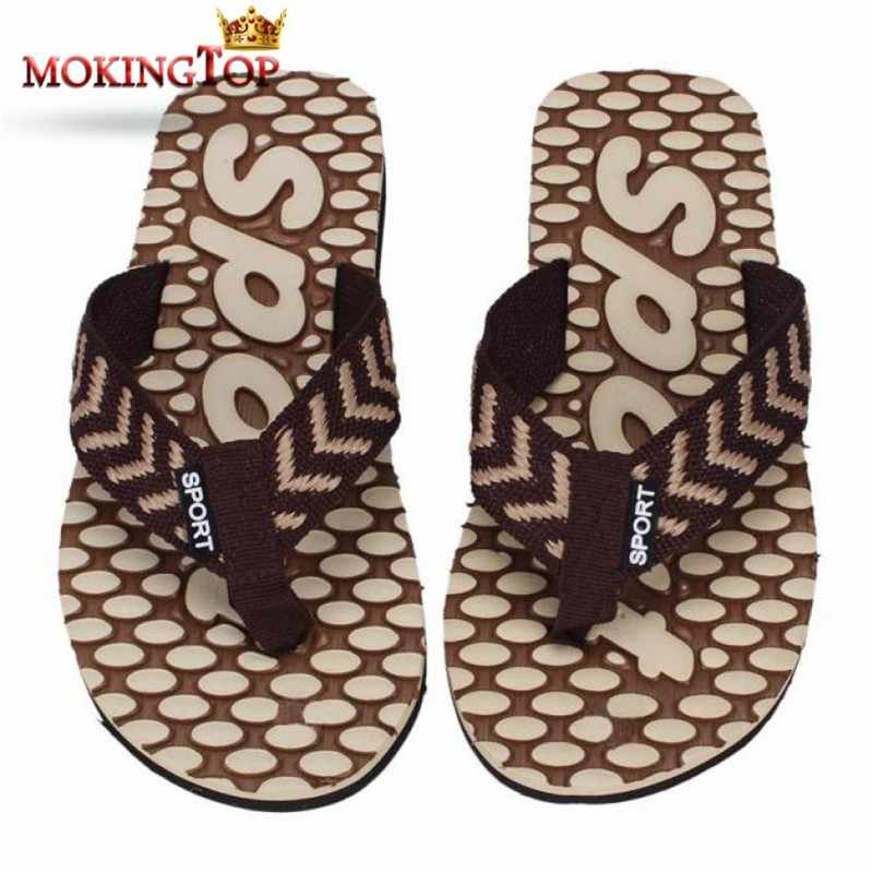 fd3a85221113 Detail Feedback Questions about MOKINGTOP beach slippers mens flip flops  anti slip slippers man home shoe Sandals Slipper indoor flat sandals summer  2018 WS ...